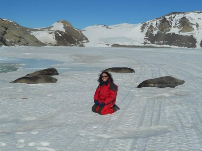 La ricercatrice Silvia Illuminati in Antartide