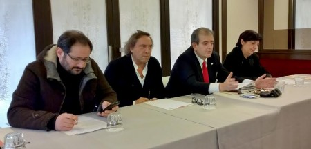 Da sinistra Pier Paolo Rossi, Daniele Maria Angelini, Ivo Costamagna e Mirella Franco