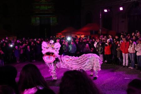 La danza del drago, rituale tipico, è stato il momento clou dei festeggiamenti