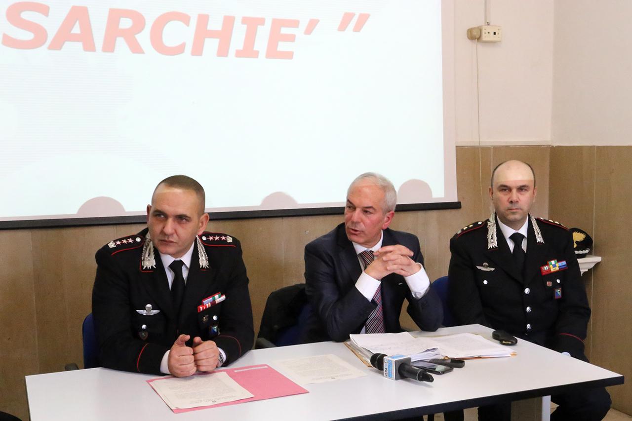 La conferenza stampa di ieri sugli arresti