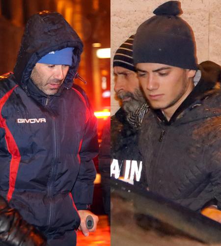 Giuseppe e Salvatore Farina ieri fuori dalla caserma dei carabinieri di Macerata