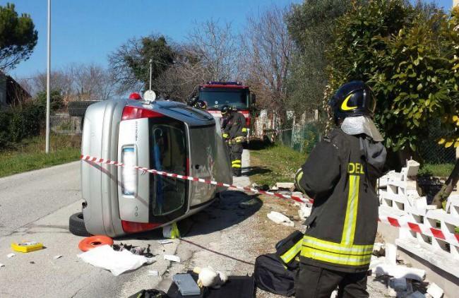 L'incidente in via San Gabriele