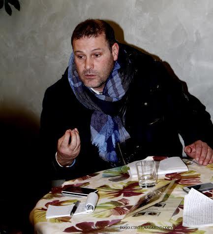 Oggi pomeriggio mister Mecomonaco ha voluto chiarire la sua posizione (foto Ciro Lazzarini)