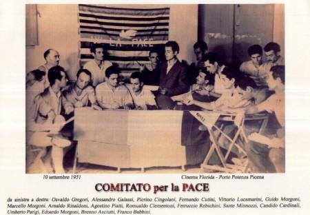 Al centro, Marcello Morgoni in una vecchia foto