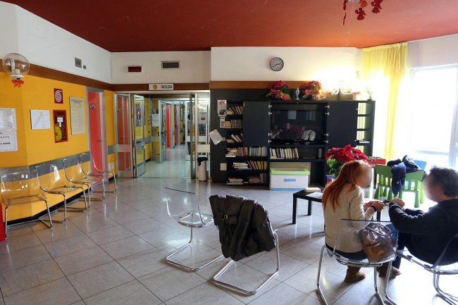La sala d'attesa di Oncologia