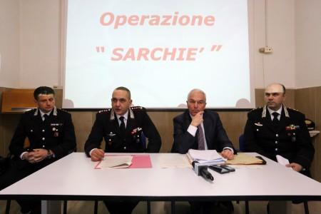 Da sinistra il capitano Vincenzo Orlando, il colonnello Stefano Di Iulio, il procuratore Giovanni Giorgio e il colonnello Leonardo Bertini