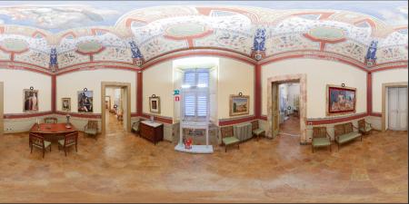 Panoramica equirettangolare di una sala del Museo