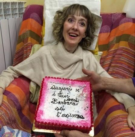 Barbara Giuggioloni nel giorno del suo quarantesimo compleanno