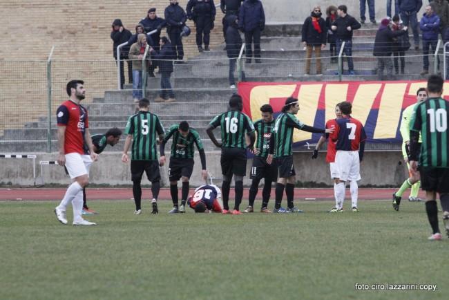 Una fase del match di ieri tra Civitanovese e Chieti