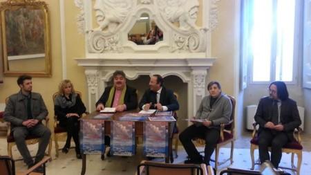 Da sinistra Leo Marucci, Antonella Nalli, Piero Vincenti, Gianluca Pasqui, Vincenzo Correnti e Alberto Pepe durante la presentazione del progetto