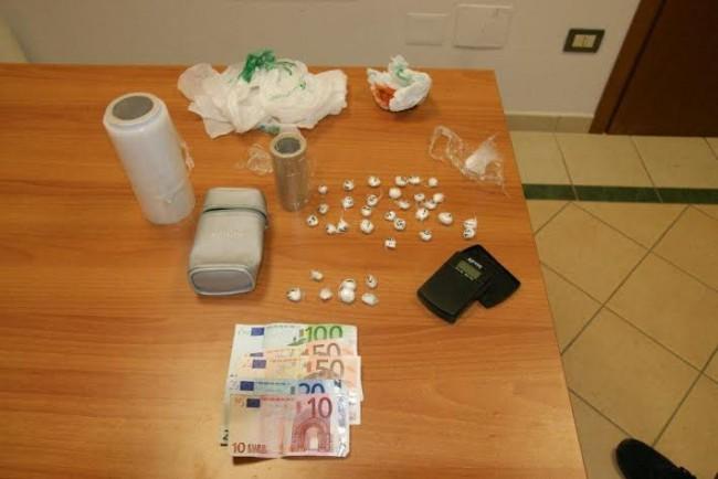 La droga trovata a casa dell'albanese