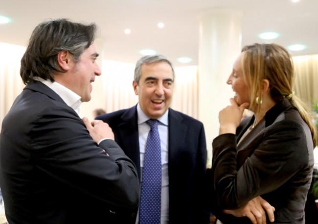Maurizio Gasparri con Fabio Pistarelli e Deborah Pantana