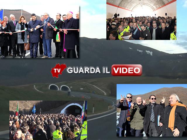 L'inaugurazione del tratto della Superstrada 77 tra Bavareto e Colfiorito