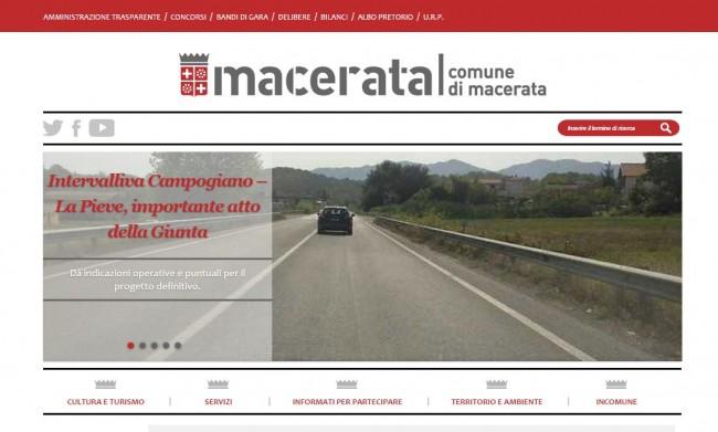 In evidenza nella home page del Comune la notizia della delibera che dà gli indirizzi per lo svincolo di Campogiano