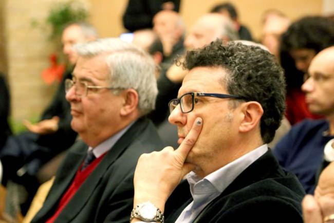 Il segretario comunale Paolo Micozzi e Graziano Magnarelli