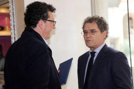 Mandrelli con il segretario del Pd Paolo Micozzi
