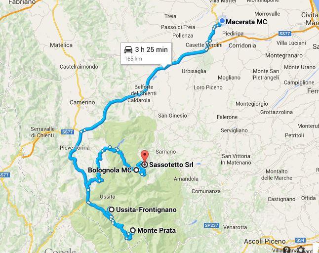 Il percorso di 300 chilometri fatto dal 31enne per andare a sciare e tornare a casa