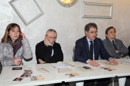 La presentazione di questa mattina. Da sinistra Alessia Scoccianti, Angelo Sciapichetti,Bruno Mandrelli e Gabriele Maolo