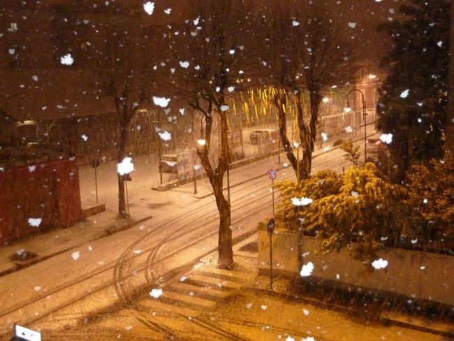 Starde imbiancate a Tolentino (Foto di Meteo Macerata e provincia)