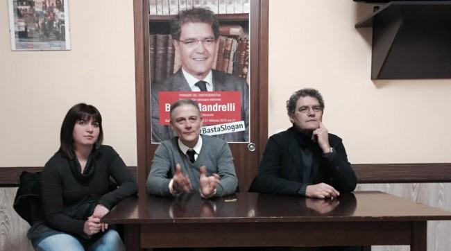 L'incontro di oggi pomeriggio di Bruno Mandrelli a Villa Potenza con il consigliere comunale Marco Gasparrini