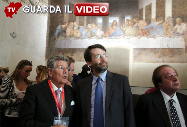 Adolfo Guzzini con il ministro Dario Franceschini
