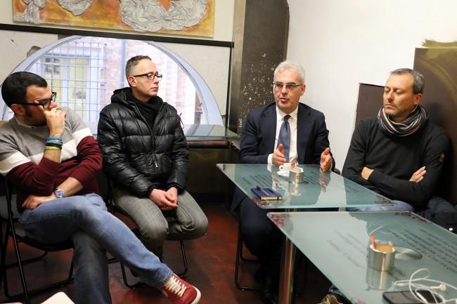 LA SINISTRA - Michele Verolo, Roberto Muscolini, Romano Carancini e Pierpaolo Tartabini