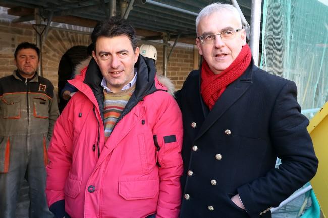 Sergio Azzacconi con il sindaco