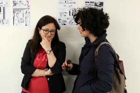 CANDIDATE - Il vicesindaco Federica Curzi con Alessandra Orazi