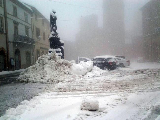 Neve oggi a San Ginesio