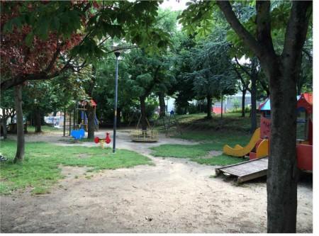I giardini di Villa Teresa prima della riqualificazione