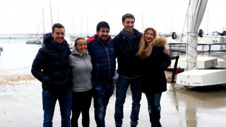 Da sinistra Giacomo Sabbatini, Valentina Stronati, Sebastiano Paolini, Michele Regolo e Cristiana Mazzaferro