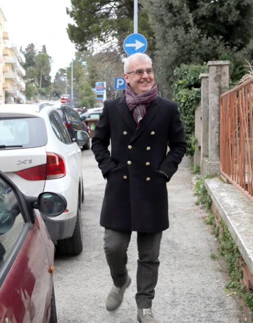 Romano Carancini in via Spalato
