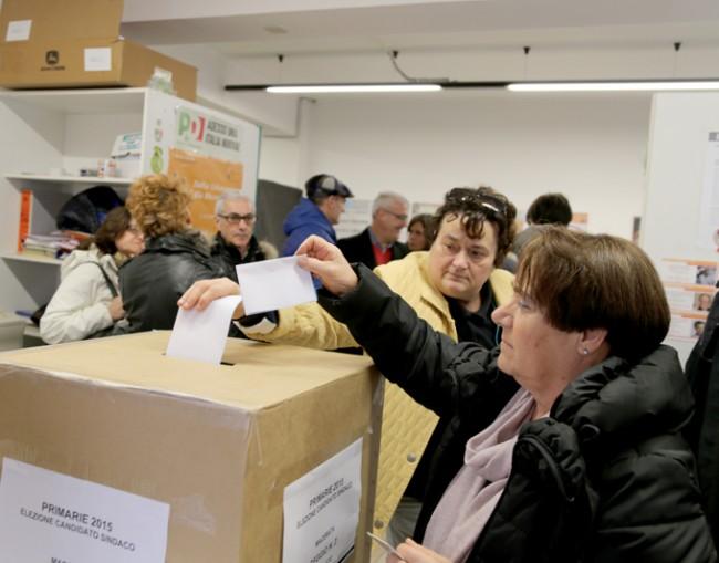Il voto in via Spalato
