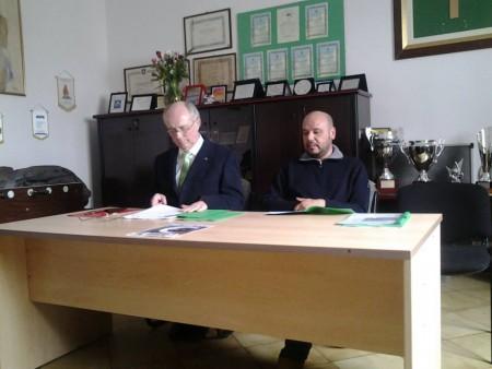 Da sinistra il presidente della Croce Verde Cesare Bartolucci e il vice Michele Ciminari