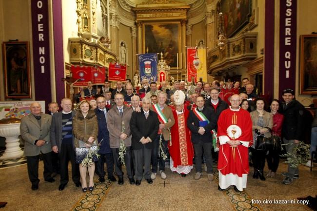 La cerimonia di benedizione della Palme a Esine