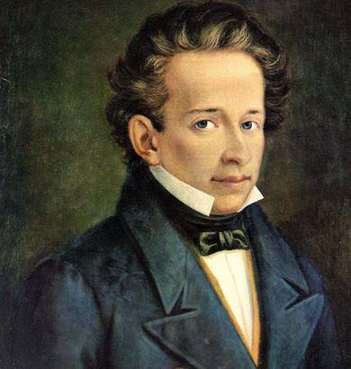 Un ritratto del poeta Giacomo Leopardi