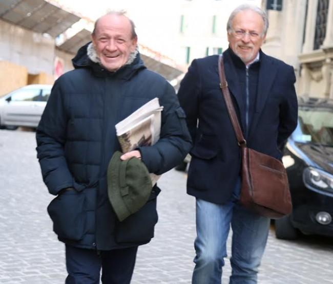 Pietro Marcolini questa mattina a Macerata assieme a Renzo Borroni, segretario generale della Fondazione Carima
