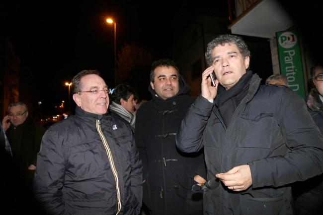 Bruno Mandrelli ieri sera con Andrea netti e Renato Perticarari
