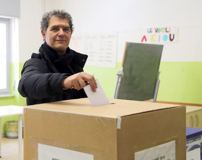 Bruno Mandrelli ha votato alle 10.30 nel seggio di via Verdi