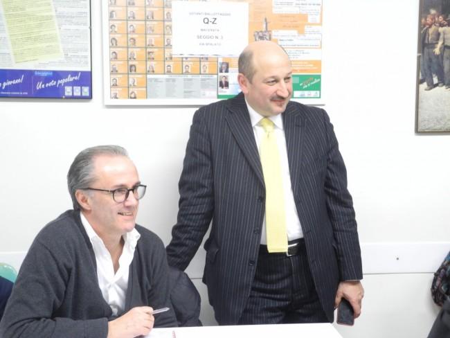 Mario Iesari e l'assessore Narciso Ricotta