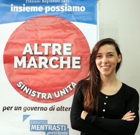 Ambra Ruggeri, candidata di Altre Marche Sinistra Unita alle regionali