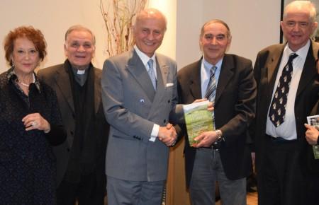 Pina Gentili, mons. Sandro Corradini, l'ambasciatore Giorgio Girelli, Ronchetti e Verdenelli