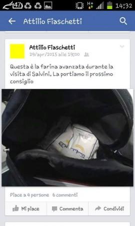 Il post pubblicato da Attilio Fiaschetti su Facebook