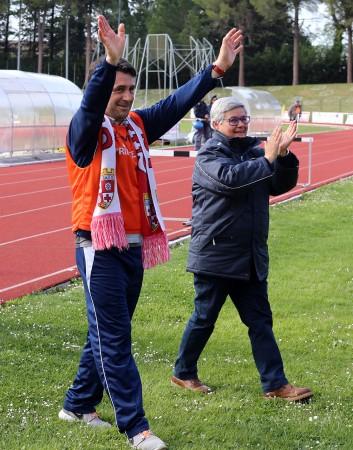 Mister Beppe Magi con la presidentessa Mariella Tardella