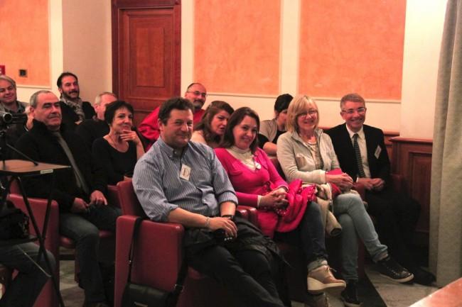 In prima fila Carla Messi, candidato sindaco del Movimento 5 Stelle