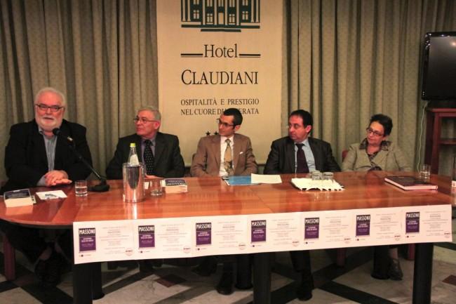 Da sinistra Nazareno Gaspari, Romano Ruffini, Giuseppe Marchetti, Gioele Magaldi e Simonetta Torresi