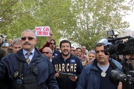 Matteo Salvini all'Hotel House di Porto Recanati