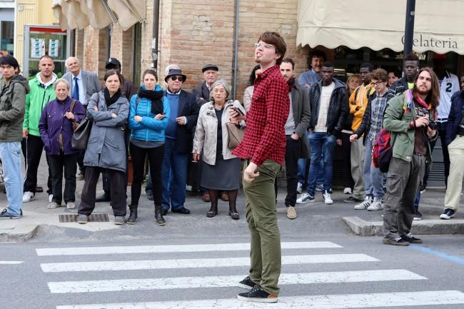 Matteo Salvini Macerata_ manifestanti_Foto LB (3)