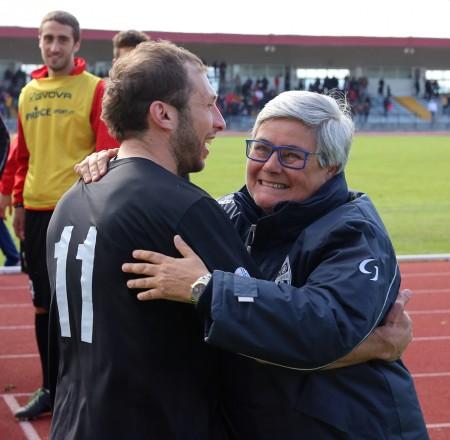 Lorenzo Perfetti e la presidentessa Tardella