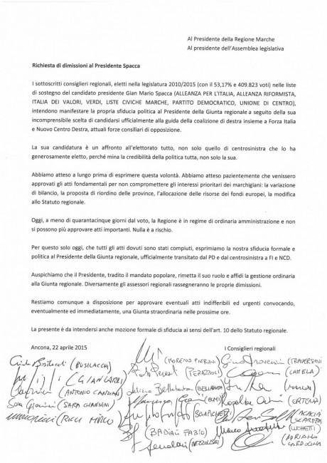 Richiesta dimissioni Spacca_22_04_2015